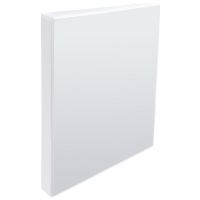 WHITE A4 4 D-RING PRESENTATION BINDER 50MM