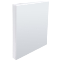 WHITE A4 2 D-RING PRESENTATION BINDER 25MM