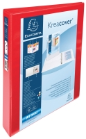 RED A4 4 D-RING PRESENTATION BINDER 25MM