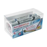 PENTEL MAXI FLOW WHITEBOARD MARKER ASSORTED COLOURS - PACK OF 4