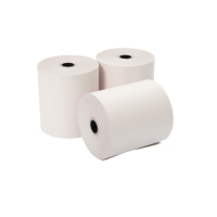 2 PLY ROLLS 76 X 76 X 12.7MM WHITE/WHITE - BOX OF 20