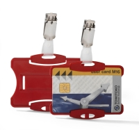 DURABLE SECURITY PASS HOLDER RED - BOX OF 25