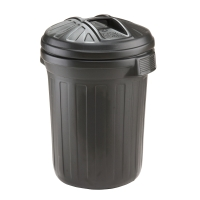 BLACK 80 LITRE HEAVY DUTY REFUSE BIN