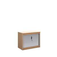 WOODEN TAMBOUR CUPBOARD 1000MM GRAPHITE GREY / BEECH