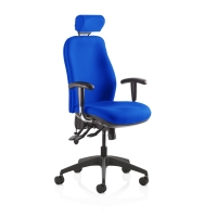 RE-ACT DELUXE HIGH BACK CHAIR BLUE WITH HEADREST