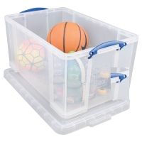 REALLY USEFUL BOX CLEAR 84 LITRE STORAGE BOX H380 X W440 X D710MM