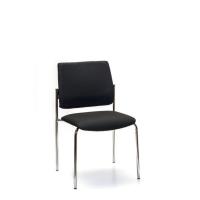 INTERSTUHL VISITOR CHAIR 4-LEGGED FRAME BLACK