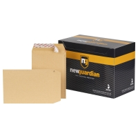 NEW GUARDIAN MANILLA C5 PLAIN PEEL AND SEAL ENVELOPES 130GSM - BOX OF 250