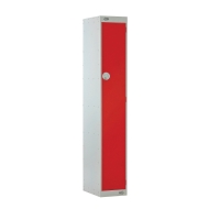 LOCKER 1800H x 300W x 450D, 1 DOOR, red