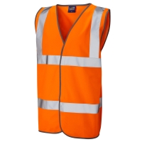 HIGH VISIBILITY SLEEVELESS 2 BAND WAISTCOAT ORANGE XXL