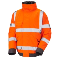 HIGH VISIBILITY BOMBER JACKET ORANGE LARGE