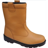 DELTAPLUS BASIC RIGGER SAFETY BOOTS S1P SRA TAN SIZE 9