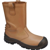 DELTAPLUS RIGGER BOOT WITH ANKLE PROTECTION BROWN SIZE 8