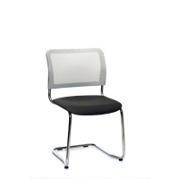 INTERSTUHL VISITOR CHAIR CANTILEVER FRAME WHITE/BLACK PACK OF 2