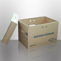 ARCHIVE BOX FOR OFF SITE STORAGE BROWN - PACK OF 5