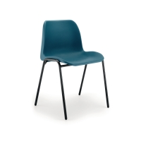 POLYPROPYLENE EASY-CLEAN STACKING CHAIR - BLUE