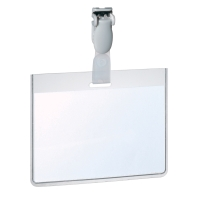 DURABLE VISITORS/SECURITY BADGES 60 X 90MM - PLASTIC CLIP - BOX OF 25