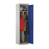 CLEAN/DIRTY LOCKER 1800H X 450W X 450D, 1 DOOR BLUE