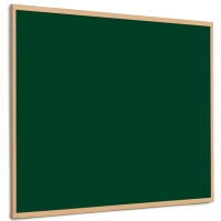 QUARTET OAK FRAMED FELT NOTICE BOARD 600MM X 900MM - GREEN