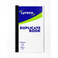 LYRECO 200 X 127MM DUPLICATE BOOK - 100 NUMBERED SHEETS