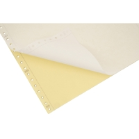LYRECO 280 X 241MM 2-PART TINTED PLAIN PERF LISTING PAPER 52/57GSM - 1000 SHEETS