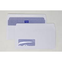 LYRECO WHITE DL SELF SEAL WINDOW ENVELOPES 90GSM - BOX OF 1000