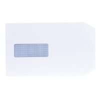 LYRECO WHITE C5 SELF SEAL WINDOW ENVELOPES 90GSM - BOX OF 500