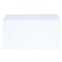 LYRECO WHITE DL PEEL & SEAL PLAIN ENVELOPES 100GSM - BOX OF 500