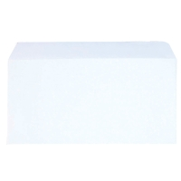 LYRECO BUDGET WHITE DL SELF SEAL PLAIN ENVELOPES 80GSM - BOX OF 1000