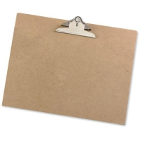 HEAVY-DUTY NATURAL HARDBOARD A3 CLIPBOARD