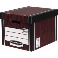 FELLOWES WOODGRAIN TALL PREMIUM BANKERS BOX H298 X W330 X D381MM - PACK OF 10