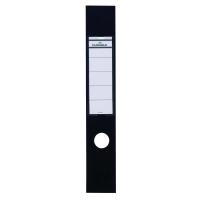 ORDOFIX BLACK 380MM X 60MM FILING SPINE LABELS - PACK OF 10