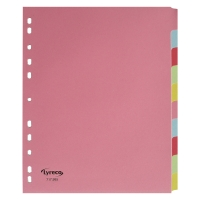 LYRECO BUDGET  ASSORTED COLOUR A4+ 10 PART DIVIDERS