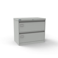 SILVERLINE GREY 2-DRAWER METAL SIDE FILER CABINET H690MM X W800MM X D480MM