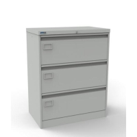 SILVERLINE GREY 3-DRAWER METAL FILER CABINET H1009MM X W800MM X D480MM