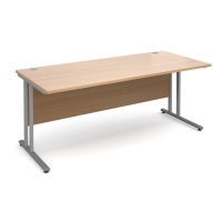 BEECH MODULAR STRAIGHT DESK 1600MM X 720MM X 800MM