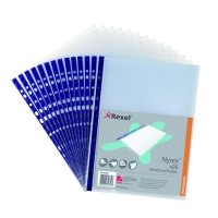 REXEL NYREX BLUE SPINE A4 PUNCHED POCKETS 90 MICRONS - PACK OF 25