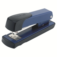 REXEL METEOR BLUE NO.26/6 HALF STRIP STAPLER - 25 SHEET CAPACITY