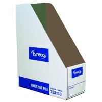 LYRECO WHITE MAGAZINE FILES H300 X W100 X D230MM - PACK OF 10