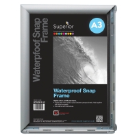 WATERPROOF SNAP FRAME SIZE A3 SILVER