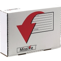 MISSIVE VALUE SMALL PARCEL POSTAL BOX A4 PLUS SIZE 318X222X80MM - PACK OF 10