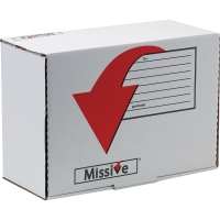 MISSIVE VALUE SMALL PARCEL POSTAL BOX  ACCESSORY BOX SIZE 280X195X110MM - PACK O