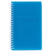 EXACLAIR LINICOLOR BUSINESS CARD HOLDER POLYPROPYLENE 96 CARD CAPACITY BLUE