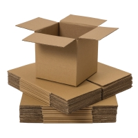 DOUBLE WALL CARD BOARD BOX 356x356x356MM - PACK OF 10