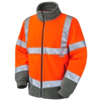 LEO FO1-O HIGH VISIBILITY FLEECE ORANGE MEDIUM