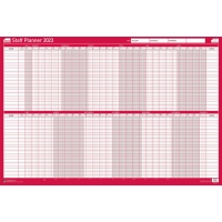 SASCO MOUNTED STAFF YEAR PLANNER - 915 X 610MM
