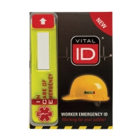 VITAL ID 343286 SAFETY HELMET STICKER LARGE