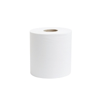 LYRECO WHITE 1 PLY 190MMX300M CENTREFEED ROLL 1 PLY - PACK OF 6