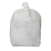 WHITE 15 X 24 X 24 INCH HEAVY DUTY SQUARE BIN LINER - PACK OF 5 ROLLS OF 100