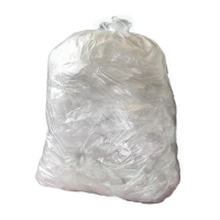 CLEAR 15 X 24 X 24 INCH HEAVY DUTY SQUARE BIN LINER - PACK OF 5 ROLLS OF 100